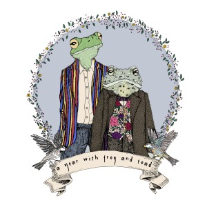 Frog and Toad with Floral Border